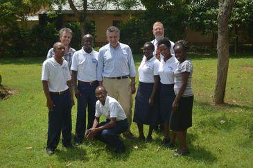Kiwoko Hospital - FOAG Sponsored nurses with committee members