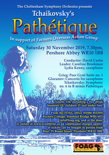FOAG/ CSO Winter Concert at Pershore Abbey on 30th